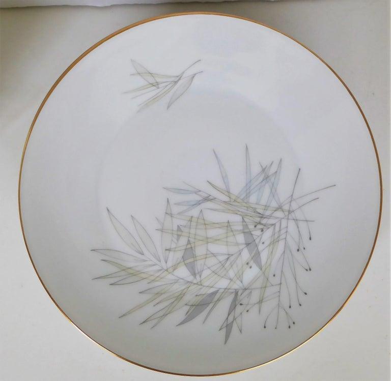 German 12 Raymond Loewy Mid-Century Modern Rosenthal Form 2000 Dinner Plates Grasses For Sale