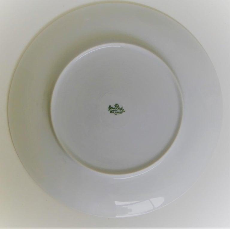 Porcelain 12 Raymond Loewy Mid-Century Modern Rosenthal Form 2000 Dinner Plates Grasses For Sale