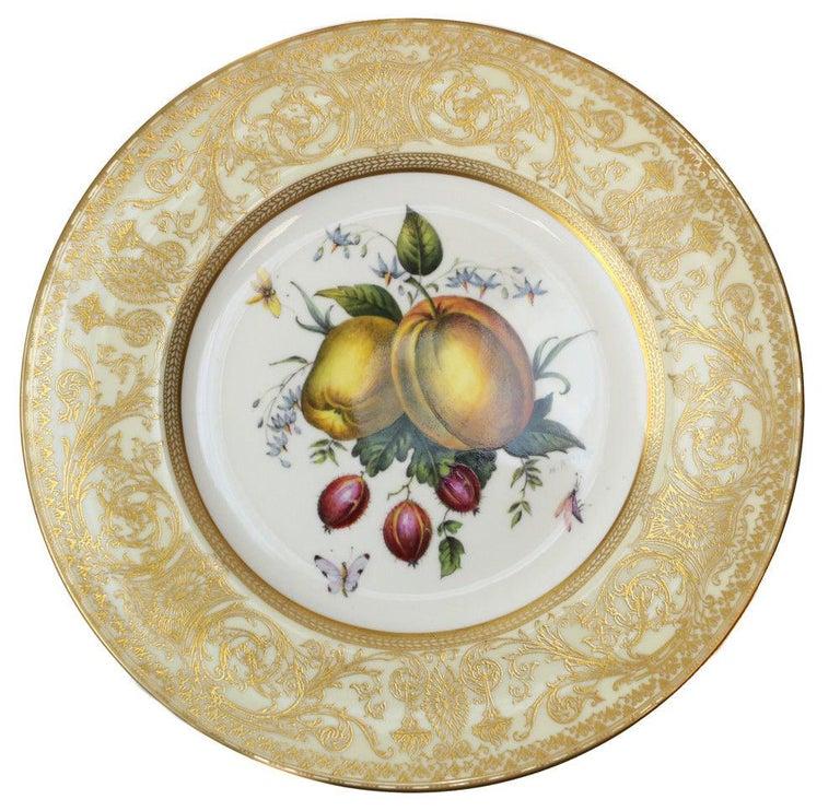 12 Royal Worcester Harry Aytron Porcelain Fruit Cabinet Plates, 1955, Signed For Sale 1