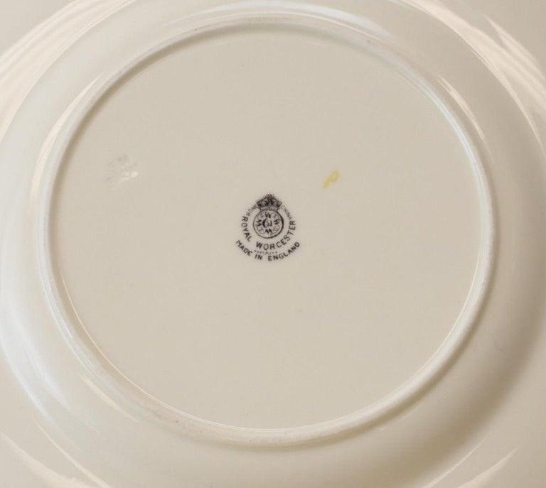 12 Royal Worcester Harry Aytron Porcelain Fruit Cabinet Plates, 1955, Signed For Sale 2