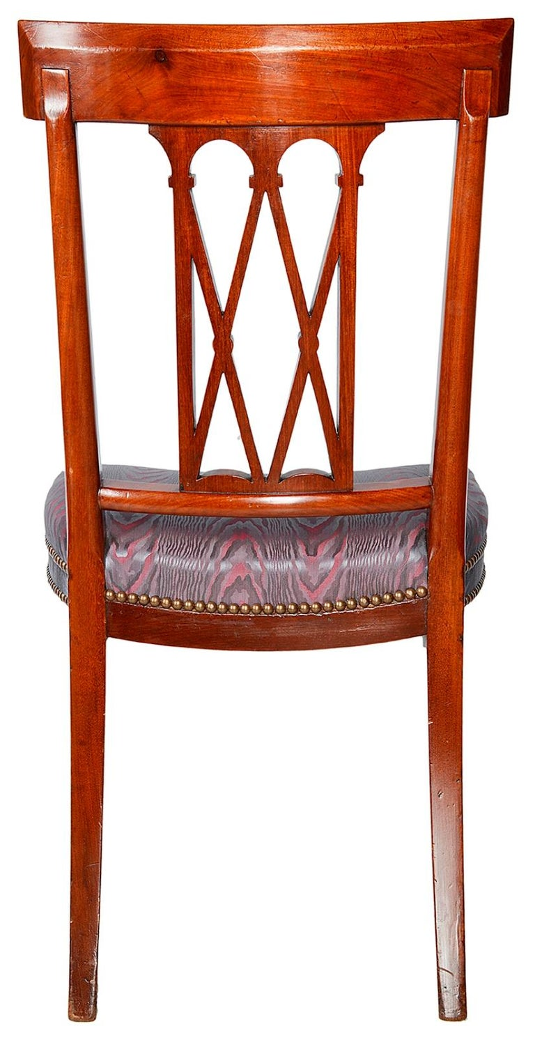 12 Sheraton Revival Dining Chairs, 19th Century For Sale 2