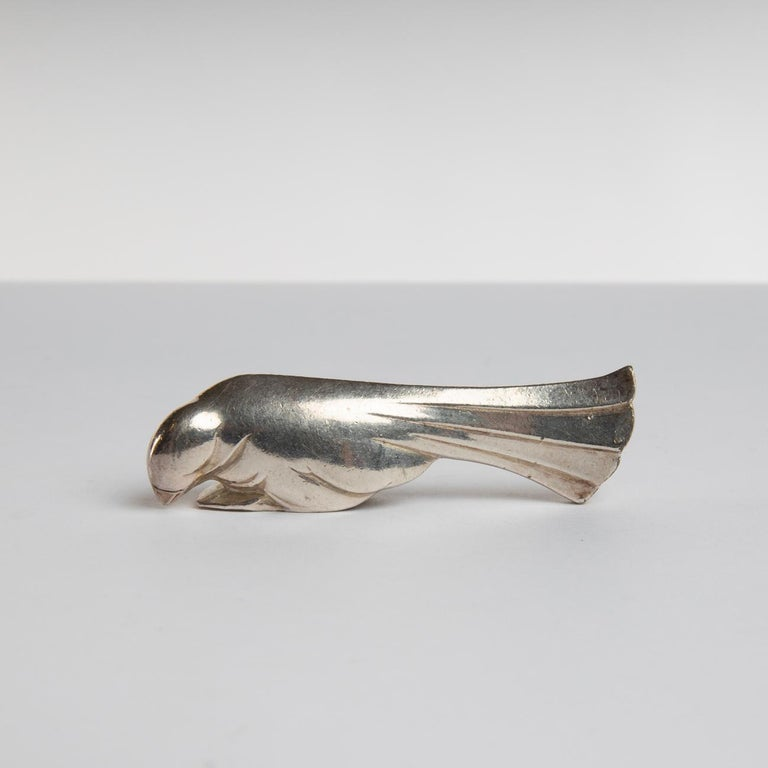 Mid-Century Modern 12 Silver-Plated Knife-Rests in the Shape of Animals, Edouard Marcel Sandoz For Sale