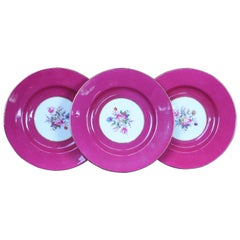 12 Spode Copelands China Salad Plates Floral Bouquet Pink Magenta R9282