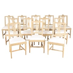 12 Swedish Dining Chairs from Lindome