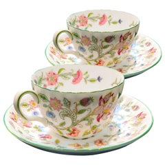 12 Teacups and Saucers Minton Bone China Porcelain Haddon Hall