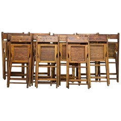 12 Vintage Inauguration Oak Folding Chairs Now for Wedding Cafe Bistro