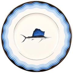12 Vintage Lenox Sailfish Plates
