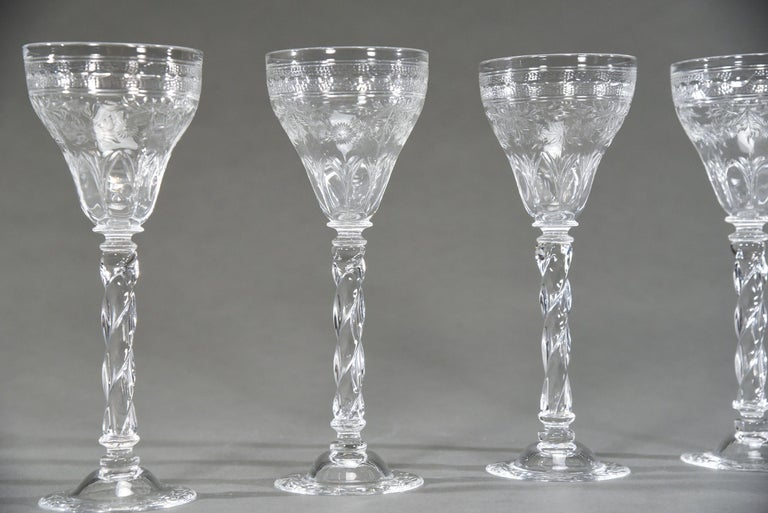 One the most dramatic and elegant patterns, this set of 12 Webb goblets will create a one of a kind table setting. Standing 9 3/8
