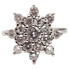 1.20 Carat 18 Karat White Gold Vintage Diamond Ring
