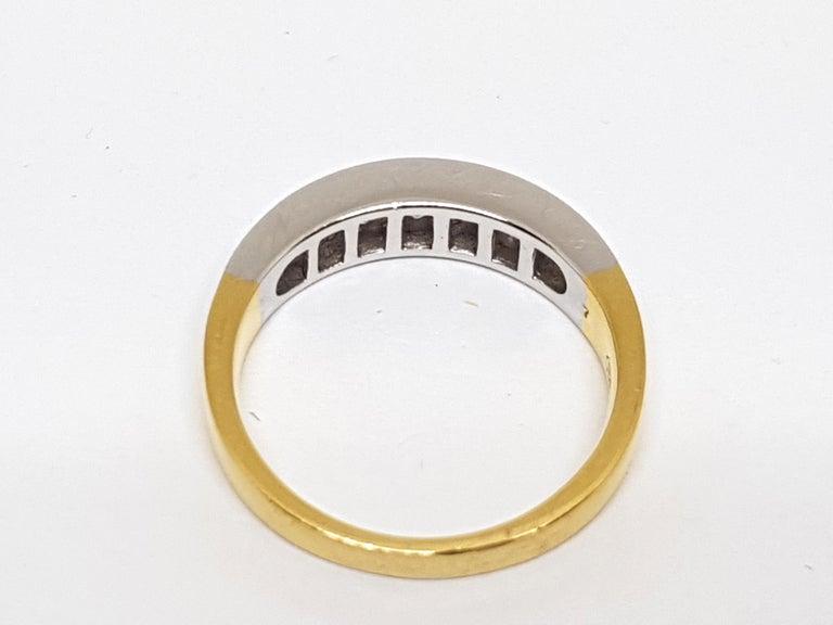1.20 Carat 7-Stone Diamond Memory Ring For Sale 1