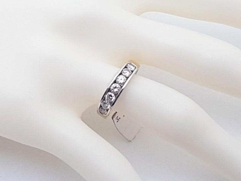 1.20 Carat 7-Stone Diamond Memory Ring For Sale 2