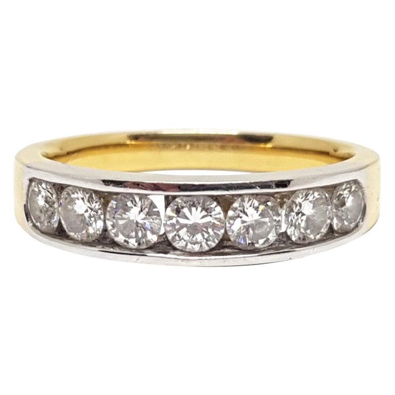 1.20 Carat 7-Stone Diamond Memory Ring For Sale