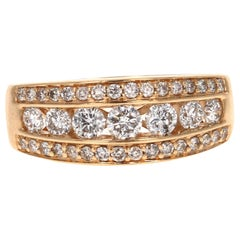 1.20 Carat Diamond Band 14 Karat Yellow Gold