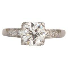 1.20 Carat Diamond Platinum Engagement Ring
