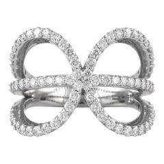 1.20 Carat Diamond Ring 18 Karat White Gold