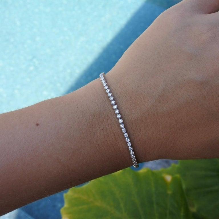 1.20 Carat Diamonds Tennis Bracelet in 14 Karat White Gold - Shlomit Rogel For Sale 2