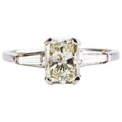 1.20 Carat Emerald Cut Diamond 3-Stone Engagement Ring