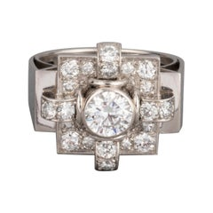 1.20 Carat French Art Deco Ring