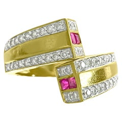 1.20 Carat Natural Burma Ruby Diamond Modern Ring