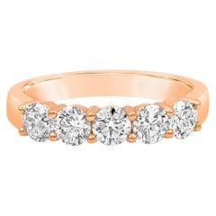 1.20 Carat Round Diamond Five-Stone Wedding Band