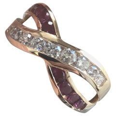1.20 Carat TW Approximate Infinity Ruby and Diamond Ring, Ben Dannie