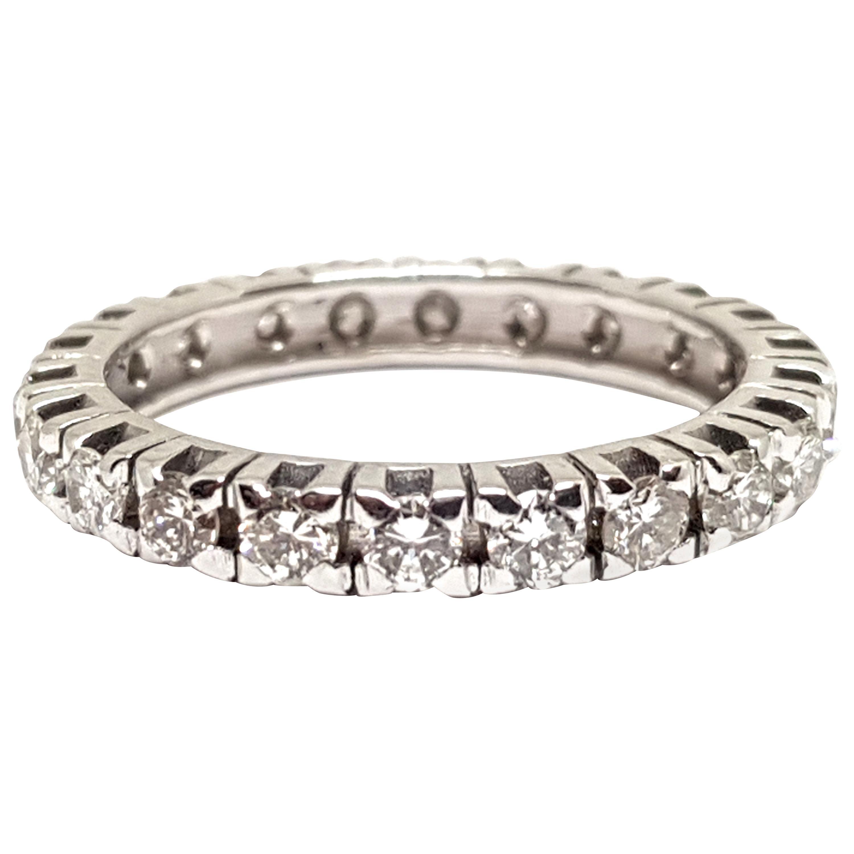 1.20 Carat White Gold Diamond Memory Ring