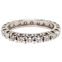 1.20 Carat White Gold Diamond Memory Ring