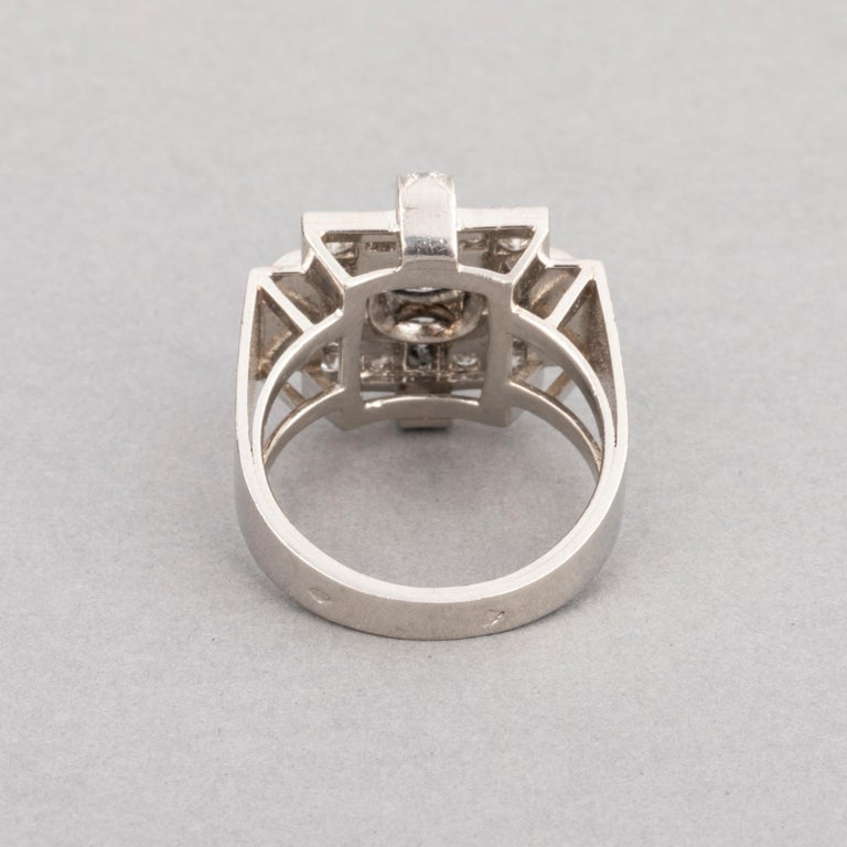 1.20 Carat French Art Deco Ring For Sale 2