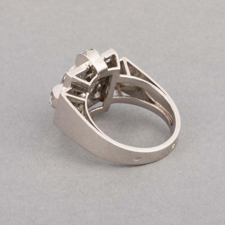 1.20 Carat French Art Deco Ring For Sale 3
