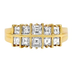 1.20 Carat Two-Row Diamond Wedding Band