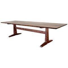 """120"""" Columbia Trestle Table in Oregon Walnut by Studio Moe"""
