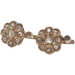 Diamond Antique Cluster Earrings  1.20 Karat