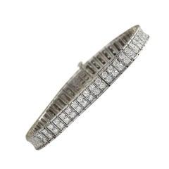 12.00 Carat Diamond 18 Karat White Gold Bracelet