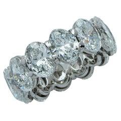 Vivid Diamonds 12.07 Carat Oval Cut Diamond Eternity Wedding Band