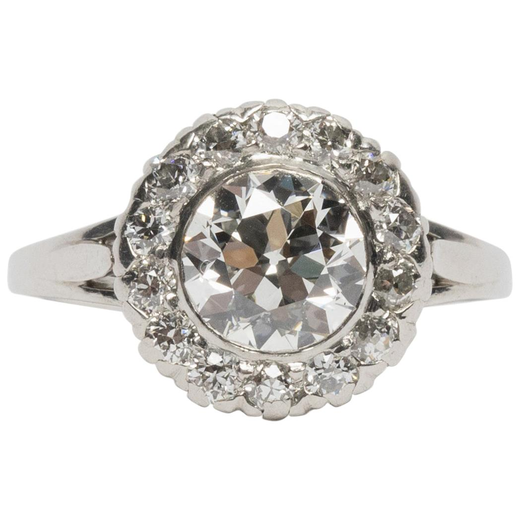 1.21 GIA Certified Carat Diamond Platinum Engagement Ring