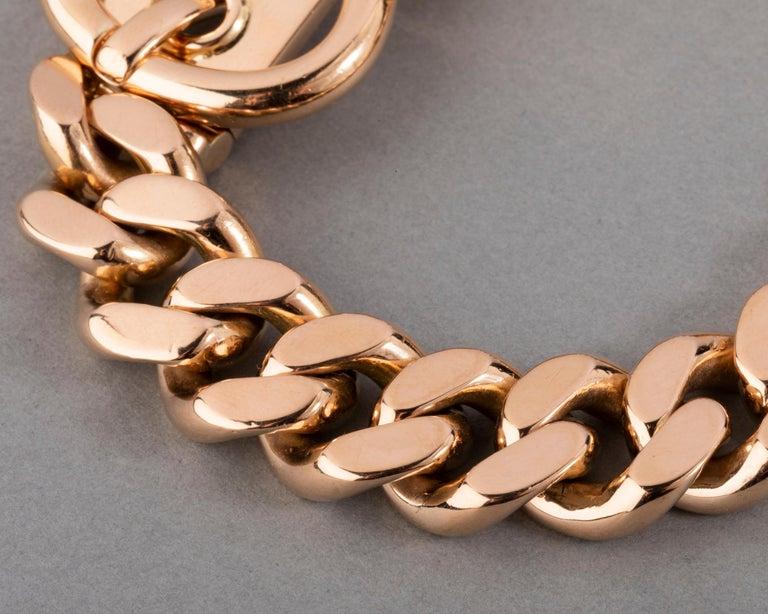 121.9 Grams Gold French Belt Bracelet For Sale 1
