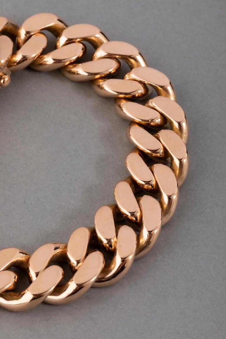 121.9 Grams Gold French Belt Bracelet For Sale 2