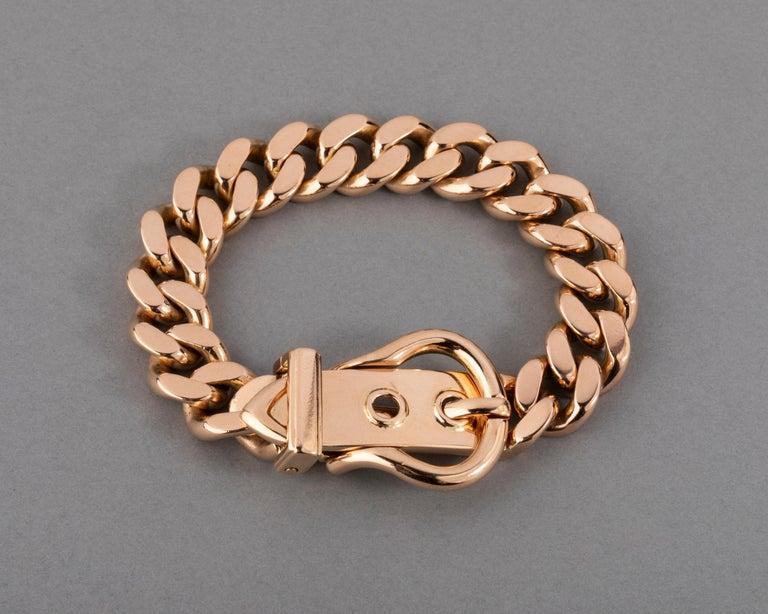 121.9 Grams Gold French Belt Bracelet For Sale 3
