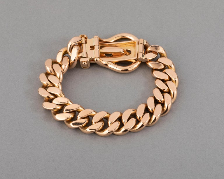 121.9 Grams Gold French Belt Bracelet For Sale 4