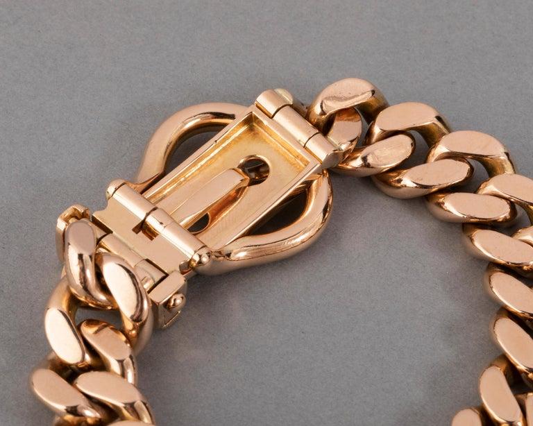 121.9 Grams Gold French Belt Bracelet For Sale 5