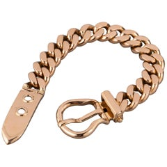 121.9 Grams Gold French Belt Bracelet