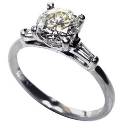 1.22 Carat Brilliant Cut Diamond Platinum Engagement Ring