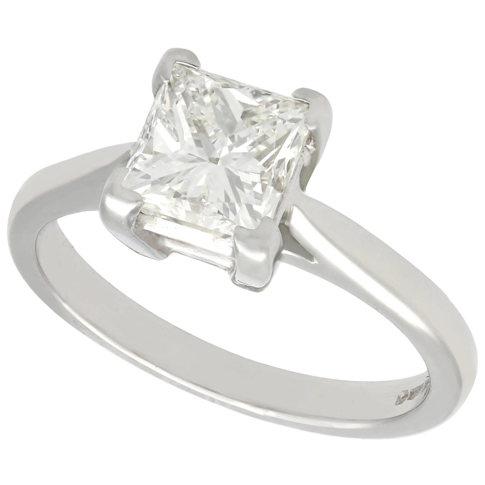 1.22 Carat Diamond and Platinum Solitaire Engagement Ring