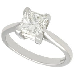 1.22 Carat Diamond and Platinum Solitaire Engagement Ring