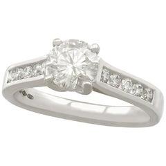 1.22 Carat Diamond and Platinum Solitaire Ring