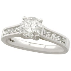 1.22 Carat Diamond and Platinum Solitaire Ring