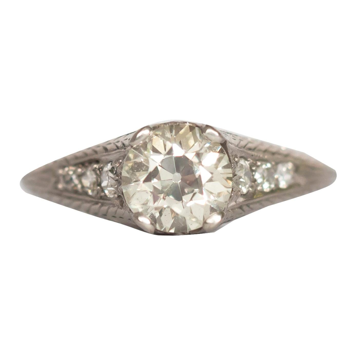 1.22 Carat Diamond Platinum Engagement Ring