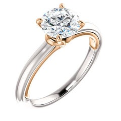 1.22 Carat Old European Diamond White Rose Gold Engagement Ring GIA D-VVS2