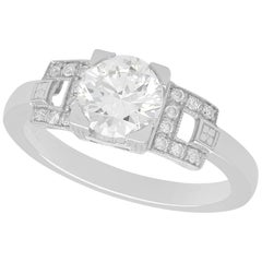 1.22ct Diamond and Platinum Solitaire Ring Vintage and Contemporary