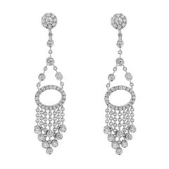 1.23 Carat Diamond Tassel Earrings
